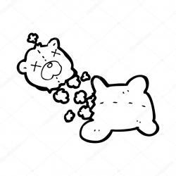 Drawn teddy bear ripped
