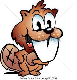 Beaver clipart drawn