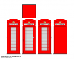 Phone Box clipart britain