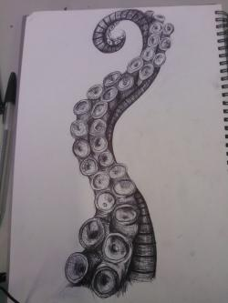 Drawn tentacle drawing