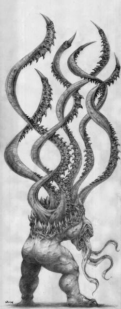 Drawn tentacle mechanical