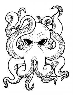 Drawn tentacle old school