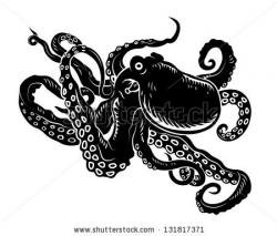 Drawn tentacle vector