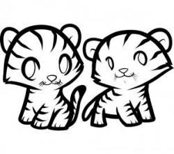 Drawn tigres easy