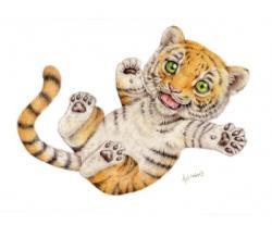 Drawn tiiger kawaii