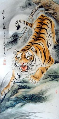Drawn tiiger chinese tiger