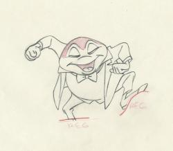 Drawn toad animated