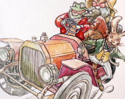 Drawn toad car road