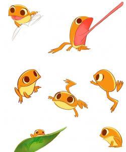 Drawn toad graphic design