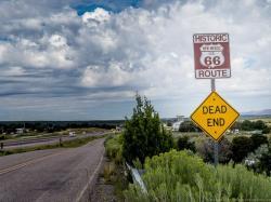 Drawn roadway road trip