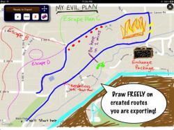 Drawn roadway route
