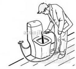 Drawn toilet clean toilet