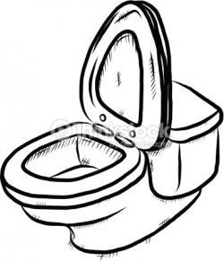 Drawn toilet sketch