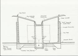 Drawn toilet toilet construction