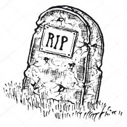 Drawn tombstone real rip