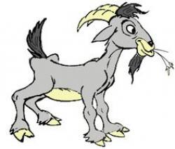 Goat clipart thin