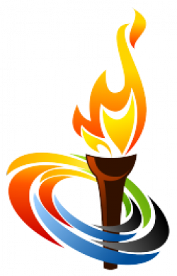 Drawn torch the olympic