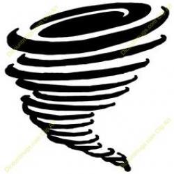 Drawn tornado
