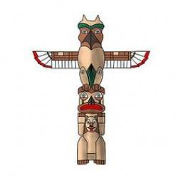 Totem Pole clipart north american