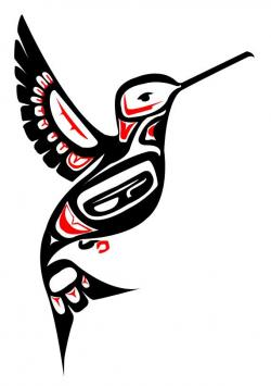Totem Pole clipart hummingbird