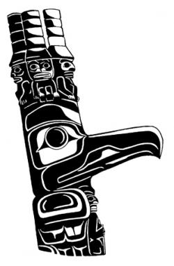 Totem Pole clipart northwest coast indians