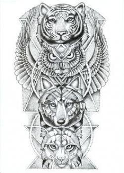 Drawn lynx tiger
