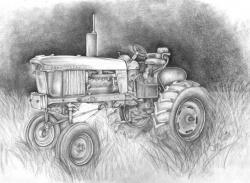Drawn tractor john deere tractor