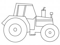 Drawn tractor outline