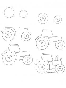 Drawn tractor simple