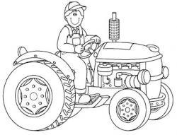 Drawn tractor sketch