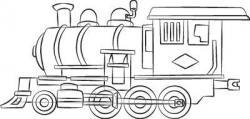 Drawn railroad simple