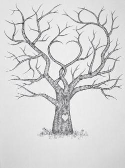 Drawn tattoo family tree