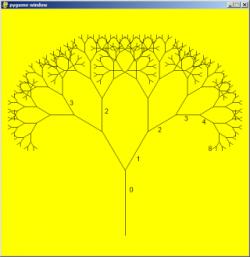 Drawn fractal python