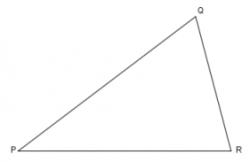 Drawn triangle