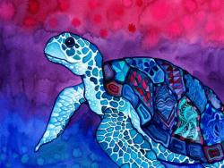 Drawn turtle trippy turtle
