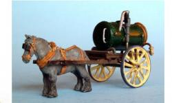 Drawn trolley model horse