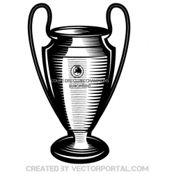 Drawn trophy logo