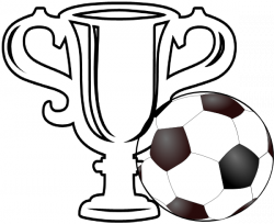 Drawn trophy soccer trophy