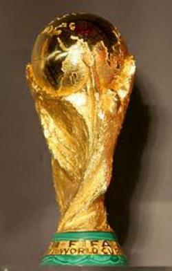 Drawn trophy world cup trophy