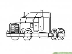Drawn vehicle truck