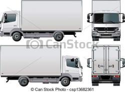 Drawn truck shipping
