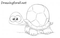 Drawn comics turtle