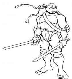 Drawn ninja leonardo
