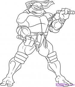 Drawn ninja michelangelo