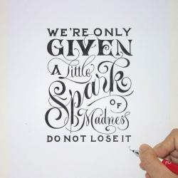 Drawn quote different font