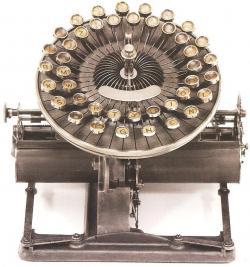 Drawn typewriter 19th century
