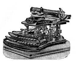 Drawn typewriter antique typewriter