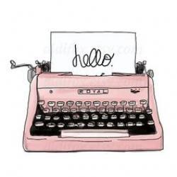 Drawn typewriter cute