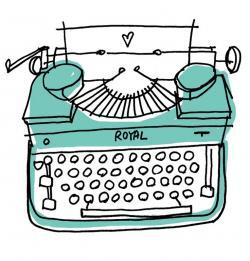 Drawn typewriter doodle