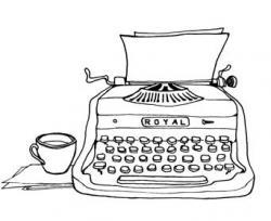 Drawn typewriter first